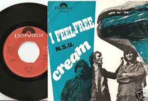 I Feel Free 45 and picture sleeve