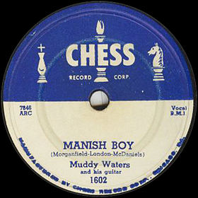 "Label from a 78 RPM copy of ""Mannish Boy"""