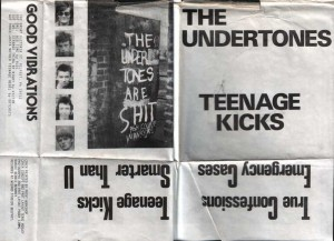"Picture sleeve for The Undertones' ""Teenage Kicks"" EP"