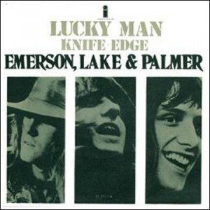 "One of the picture sleeves issued with the ""Lucky Man"" single."