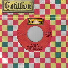 """Lucky Man"" single with Cotillion paper sleeve."