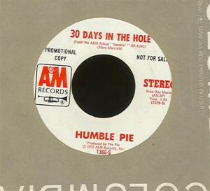 30 Days in the Hole 45 RPM single
