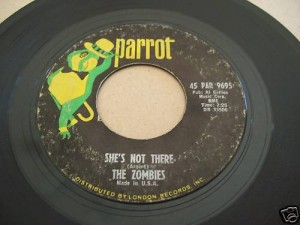 The Zombies' She's Not There 45 RPM single