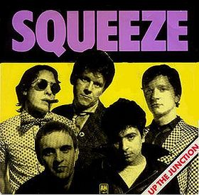 "Picture sleeve for Squeeze's ""Up the Junction"""