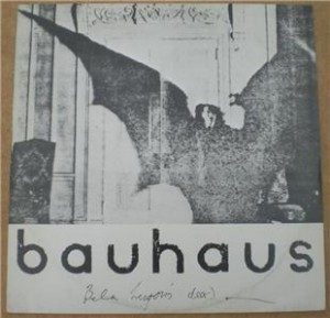 Picture sleeve for Bauhaus's Bela Lugosi's Dead