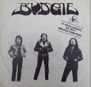 "Cover to Budgie's ""If Swallowed, Do Not Induce Vomiting"" EP"