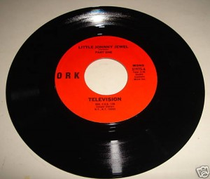 "Television's ""Little Johnny Jewel"" 45 RPM single, released on Ork Records in August 1975"