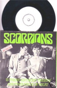 "Scorpions ""Is There Anybody There?"" white label promo single [U.K.-only release]"
