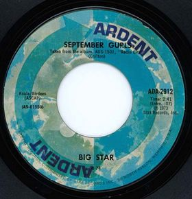 """September Gurls"" b/w ""Mod Lang"" 45 RPM single"