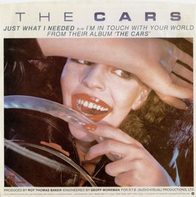 "Picture sleeve for The Cars' single ""Just What I Needed"". The cover model is Natalya Medvedeva, a Russian-born model, journalist, and musician who died in 2003."