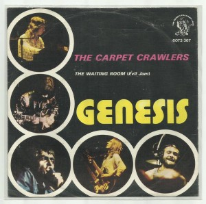 "Portuguese picture sleeve for ""The Carpet Crawlers"" single."
