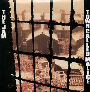 "Picture sleeve for The Jam's ""A Town Called Malice""."