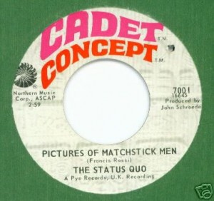 "U.S. release of ""Pictures of Matchstick Men"" single."