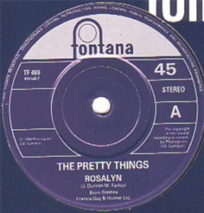 "The Pretty Things' ""Rosalyn"" 45 RPM single (U.K. release)."