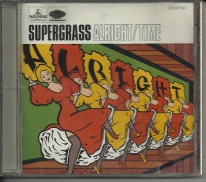 "CD cover for the Supergrass single ""Alright""."