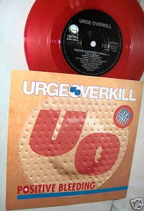 "U.K. release of ""Positive Bleeding"" single (with ""Nite and Grey"" on the B-side but without ""Quality Love"") on red vinyl."